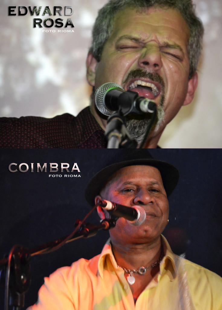 Il chitarrista Edward Rosa e il percussionista Coimbra